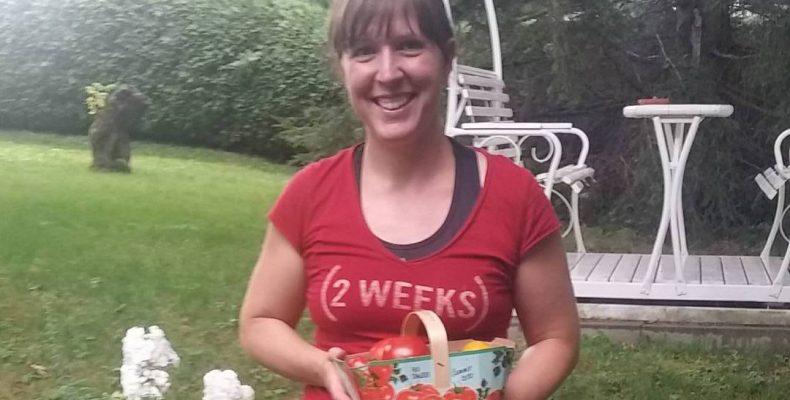 Donatrice de légumes à Victoriaville pour le compte des Jardins du Coeur