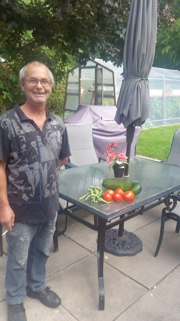 Jean-Yves Roux nous a gracieusement donné des légumes pour notre organisme
