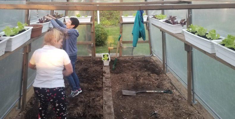 Aide des bénévoles chez Les Jardins du Coeur